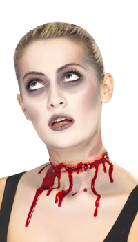 Effets speciaux cicatrice gorge tranchee achat vente - Maquillage halloween cicatrice ...