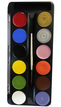 palette maquillage fun faze 12 couleurs kryolan achat. Black Bedroom Furniture Sets. Home Design Ideas