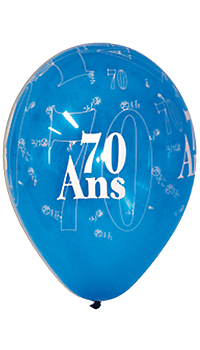 ballon anniversaire 70 ans sac de 8 achat vente. Black Bedroom Furniture Sets. Home Design Ideas