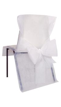housse de chaise blanche paquet de 10 achat vente. Black Bedroom Furniture Sets. Home Design Ideas