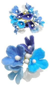 Fleur Artificielle Bleu : fleur bouquet nuance bleu achat vente ~ Teatrodelosmanantiales.com Idées de Décoration