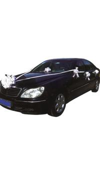 kit decoration voiture mariage blanc achat vente. Black Bedroom Furniture Sets. Home Design Ideas