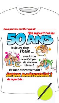 Tee Shirt Humoristique 50 Ans Achat Vente