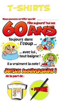 Tee Shirt Humoristique 60 Ans Achat Vente
