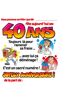 Tee Shirt Humoristique 40 Ans Achat Vente