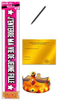 ECHARPE ENTERREMENT VIE DE JEUNE FILLE - Echarpes et sous-vêtements -  Cadeaux humoristiques - 758c3bdc434